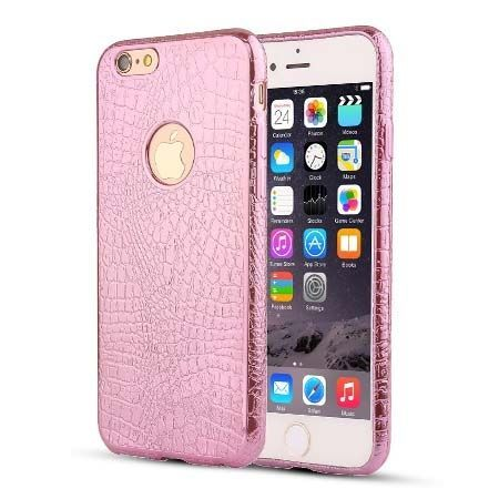 iPhone 6 / 6s silikonowe etui Skin Pattern - różowy. PROMOCJA!!!