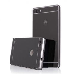 Huawei P8 Lite Mirror bumper case - Czarny