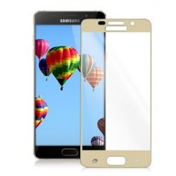 Hartowane szkło na cały ekran 3d Galaxy A5 2016 - złoty.