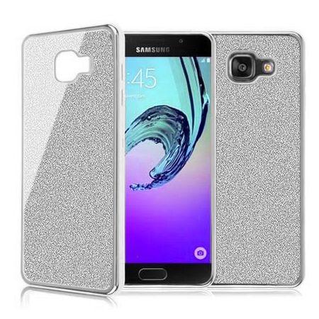 Galaxy A5 2016 etui brokat silikonowe platynowane SLIM tpu srebrne.