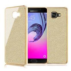 Galaxy A5 2016 etui brokat silikonowe platynowane SLIM tpu złote.