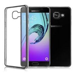 Samsung Galaxy A5 2017 przezroczyste etui platynowane SLIM - grafitowy.