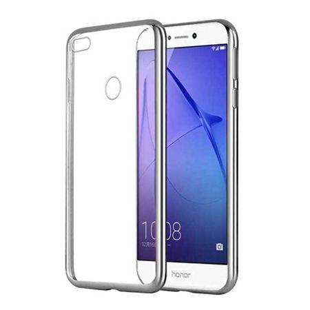 Huawei P9 Lite 2017 etui silikonowe platynowane SLIM tpu - srebrne.