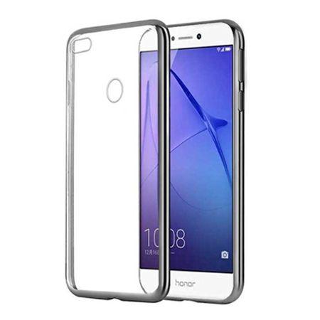 Huawei P9 Lite 2017 etui silikonowe platynowane SLIM tpu - grafitowe.