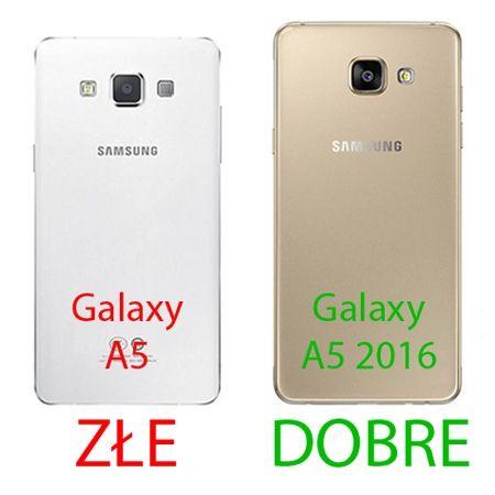 Etui na Galaxy A5 (2016) mirror - lustro silikonowe TPU - złote.
