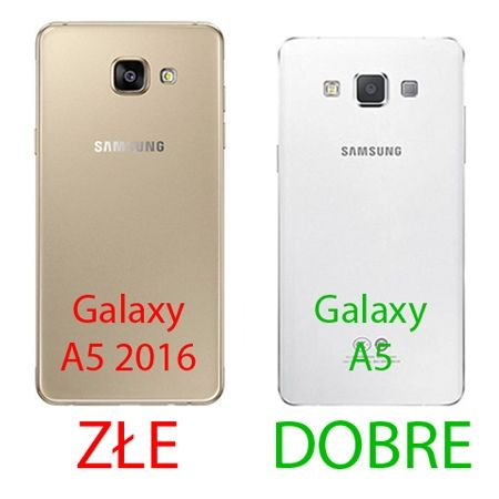 Samsung Galaxy A5 2015 etui aluminium bumper case czarny.