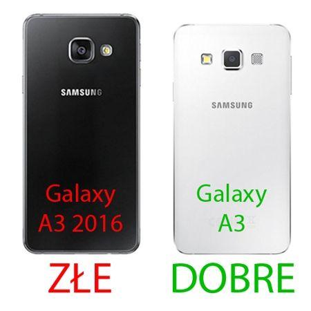 Samsung Galaxy A3 etui aluminium bumper case złoty.