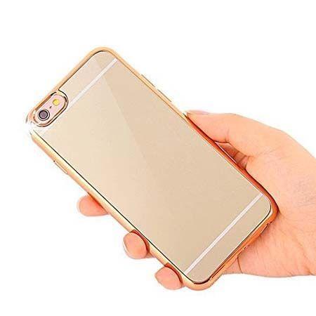 Etui na iPhone SE platynowane FullSoft lustro - złote.