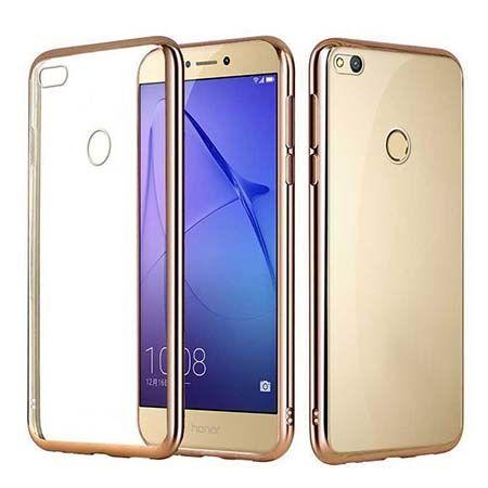 Huawei P9 Lite 2017 etui silikonowe platynowane SLIM tpu - złote.
