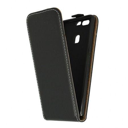 Etui na telefon Huawei P9 - kabura z klapką - czarny