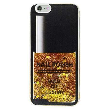 Etui na iPhone 6 Plus z ruchomym płynem w środku Nails - złoty. PROMOCJA !!!