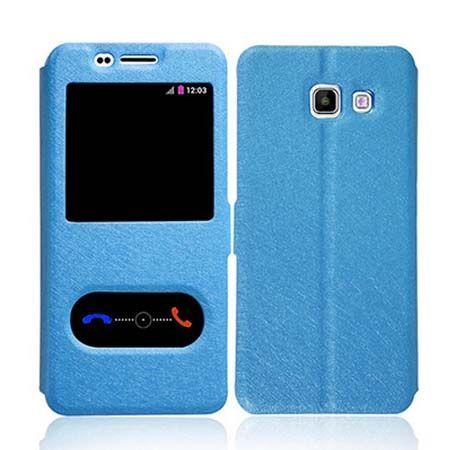 Samsung Galaxy A3 2016 etui Flip Quick View z klapką dwa okienka - Niebieski. PROMOCJA!!!