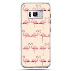 Etui na telefon Samsung Galaxy S8 - flamingi