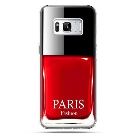 Etui na telefon Samsung Galaxy S8 Plus - lakier do paznokci czerwony