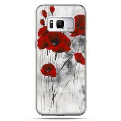 Etui na telefon Samsung Galaxy S8 Plus - czerwone maki