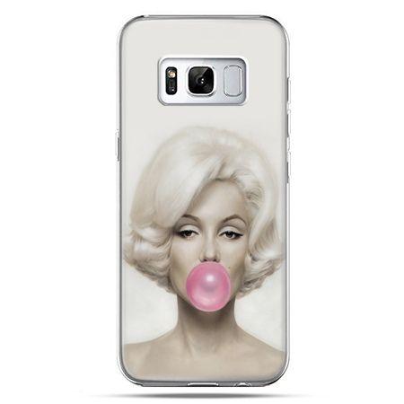 Etui na telefon Samsung Galaxy S8 Plus - Monroe z gumą balonową