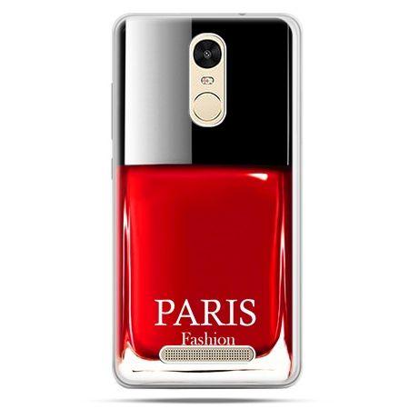 Etui na Xiaomi Redmi Note 3 - lakier do paznokci czerwony