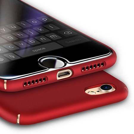 Etui na telefon iPhone 7 - Slim MattE - Czerwony.