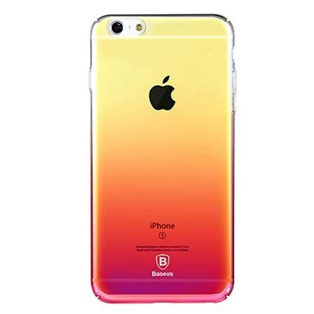 Etui na telefon iPhone 6 Plus - Baseus Aurora - różowy.