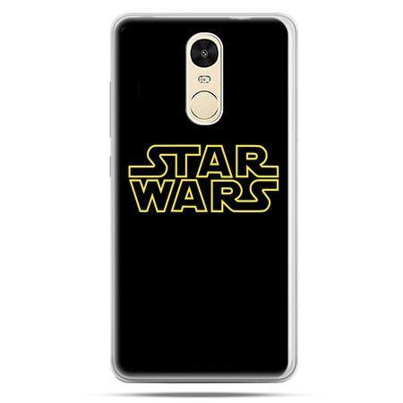 Etui na Xiaomi Redmi Note 4 - Star Wars złoty napis