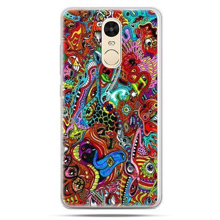 Etui na Xiaomi Redmi Note 4 - kolorowy chaos