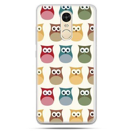 Etui na Xiaomi Redmi Note 4 - kolorowe sowy
