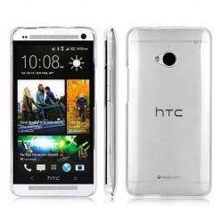 Etui na HTC One M7 silikonowe crystal case - bezbarwne.