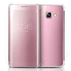 Etui na Galaxy A5 2017 Flip Clear View z klapką - różowy.
