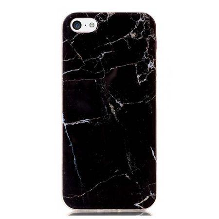 Etui na iPhone 5c silikonowe TPU marmur - czarny.