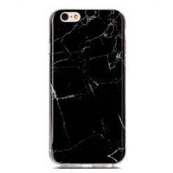 Etui na iPhone 6 / 6s silikonowe TPU marmur - czarny.