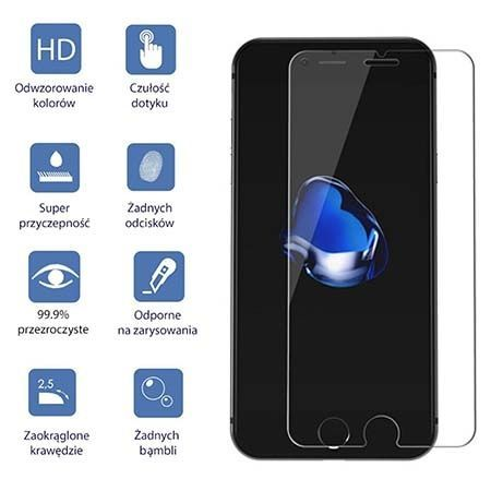 iPhone 7 hartowane szkło ochronne na ekran 9h.