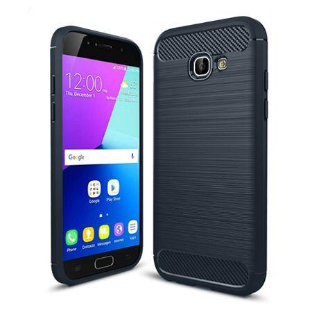 Etui na Galaxy A5 2017 bumper Neo CARBON - granatowy.