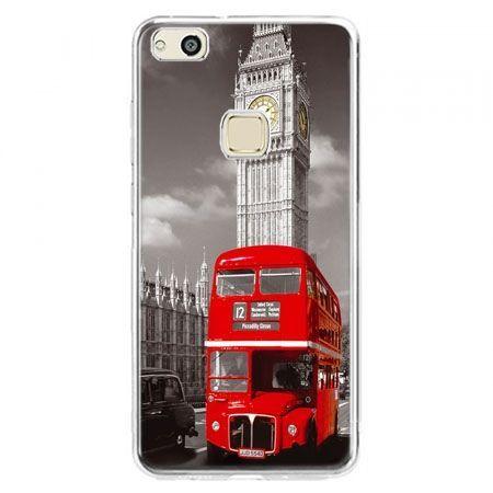 Etui na telefon Huawei P10 Lite - czerwony autobus londyn