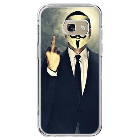 Etui na telefon Galaxy A5 2017 - Anonimus Fuck You