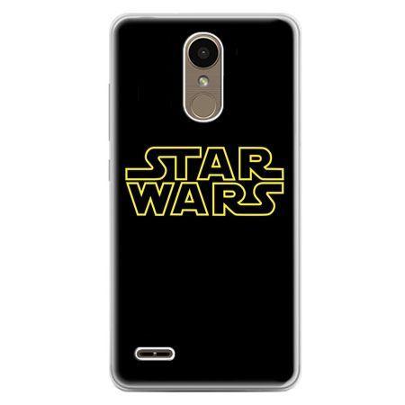 Etui na telefon LG K10 2017 - Star Wars złoty napis