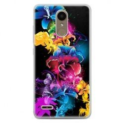 Etui na telefon LG K10 2017 - kolorowe kwiaty