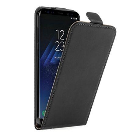 Etui na telefon Galaxy S8 Plus - kabura z klapką - czarny.