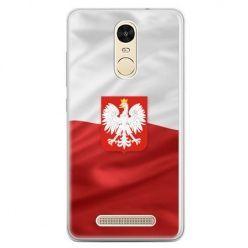 Etui na telefon Xiaomi Redmi Note 3 - flaga Polski z godłem
