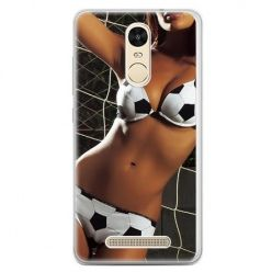 Etui na telefon Xiaomi Redmi Note 3 - kobieta w bikini football