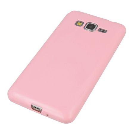 Grand Prime G530 silikonowe etui -  różowy.