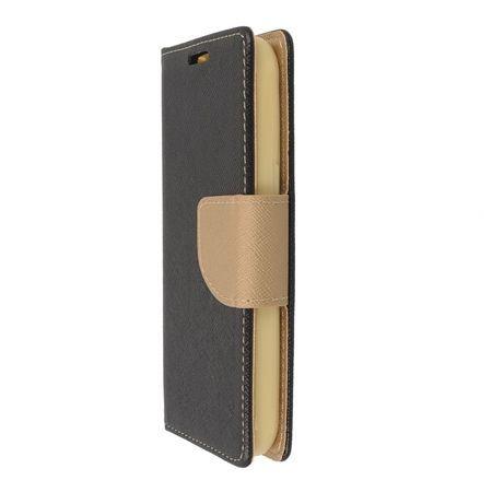 Etui na Galaxy A5 2017 Fancy Wallet - czarno-złoty.