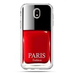 Etui na telefon Galaxy J5 2017 - lakier do paznokci czerwony
