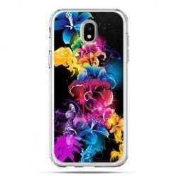 Etui na telefon Galaxy J5 2017 - kolorowe kwiaty