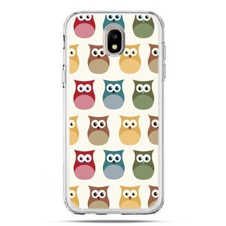 Etui na telefon Galaxy J5 2017 - kolorowe sowy