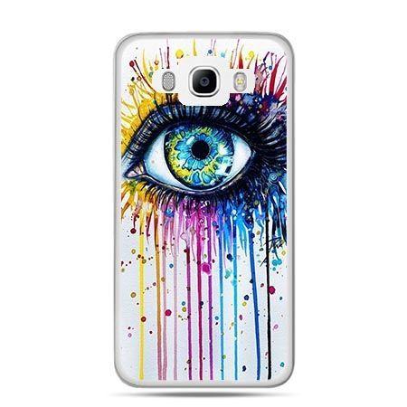Etui na Galaxy J5 (2016r) kolorowe oko - PROMOCJA !