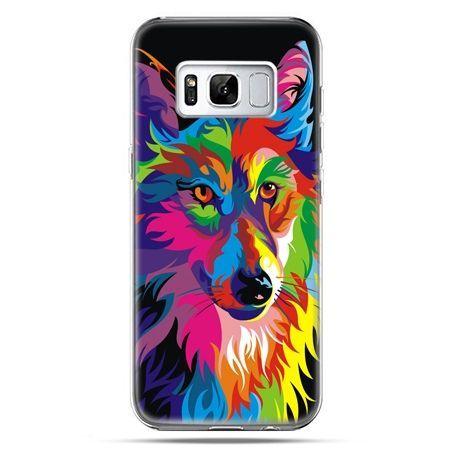 Etui na telefon Samsung Galaxy S8 Plus - neonowy wilk - PROMOCJA !