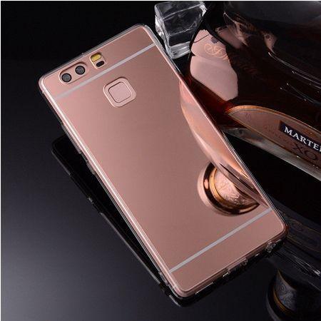 Etui na Huawei P9 mirror - lustro silikonowe lustrzane TPU - Rose Gold.