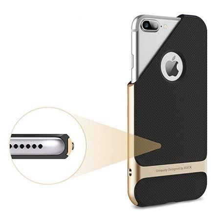 Etui na telefon iPhone 7 Plus Bumper Rock Royce - Złoty.
