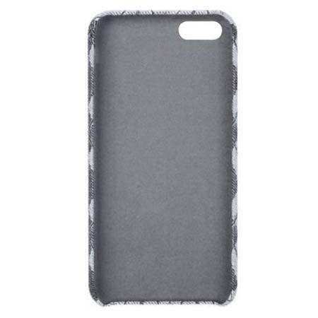 Etui na iPhone 6 / 6s Canvas materiałowe elastyczne - Romby szary.