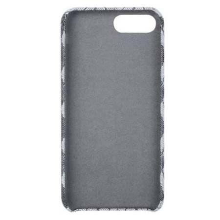 Etui na iPhone 7 Canvas materiałowe elastyczne - Romby szary.